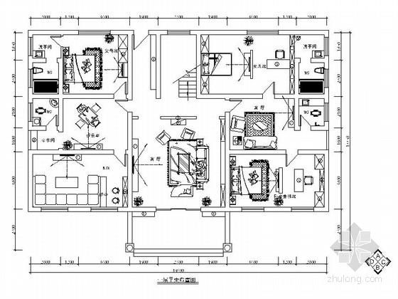 [湖南]梦幻田园风格三层别墅室内设计施工图(含效果图)