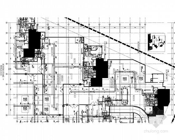 [天津]地库暖通防排烟系统设计施工图(人防设计)