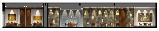 [拉萨]高山雪域首家豪华奢华酒店设计方案图中餐厅立面图