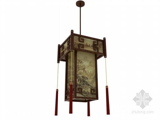 茶楼小吊灯3D模型下载