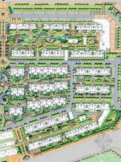 [扬州]花园小区景观扩初设计