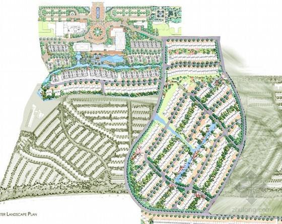 居住区景观设计手绘方案