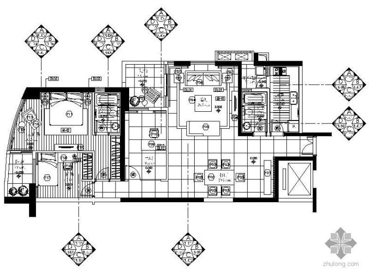 [珠海]三居室样板房交楼标准施工图