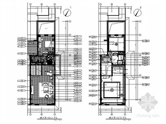 [福建]现代简约风格两层小别墅装修室内设计施工图(含方案效果)