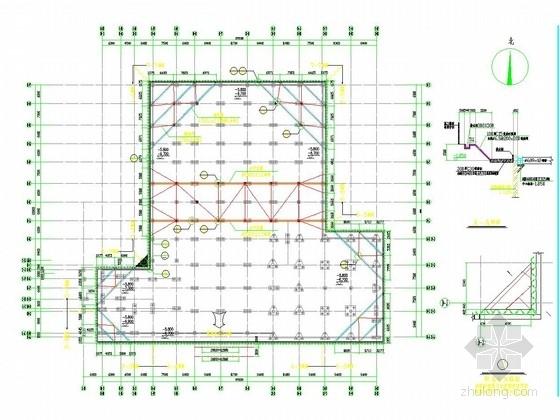 [浙江]深基坑拉森钢板桩及钢管支撑支护施工图