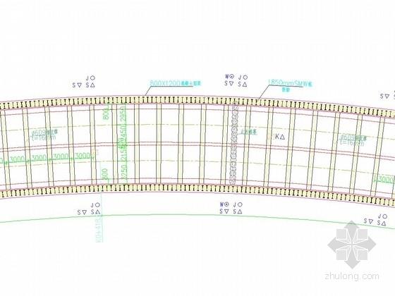 [江苏]地铁明挖区间深基坑SMW工法加钢支撑支护施工图(附计算书)