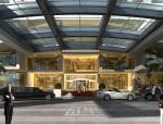 酒店门厅建筑3D模型下载