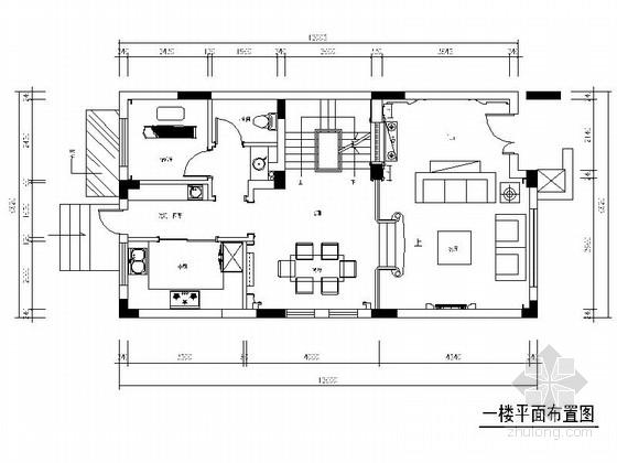 [江苏]简炼大气新古典风格三层别墅室内装修施工图(含效果)