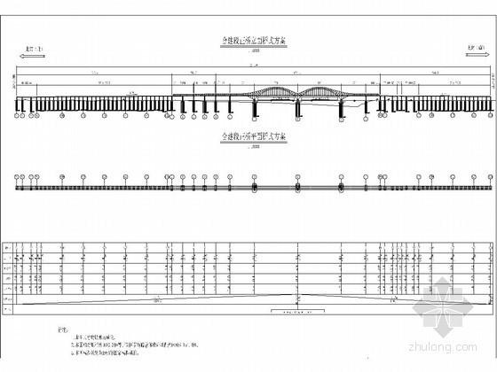 鲁班奖工程六跨连续钢桁梁拱桥实施性施工组织设计附CAD(双壁钢套箱)