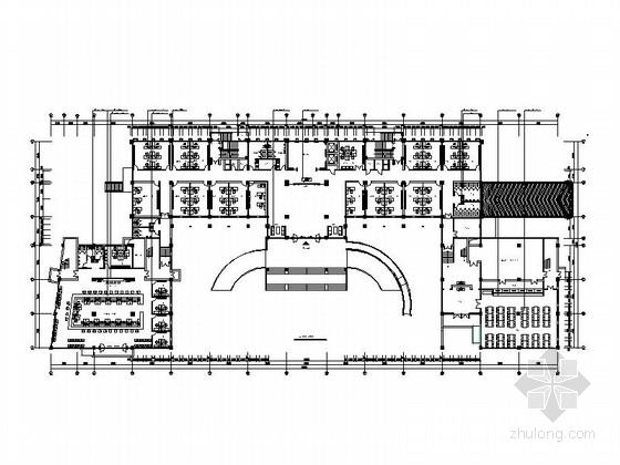 某八层政府办公楼装修施工图(含效果图)