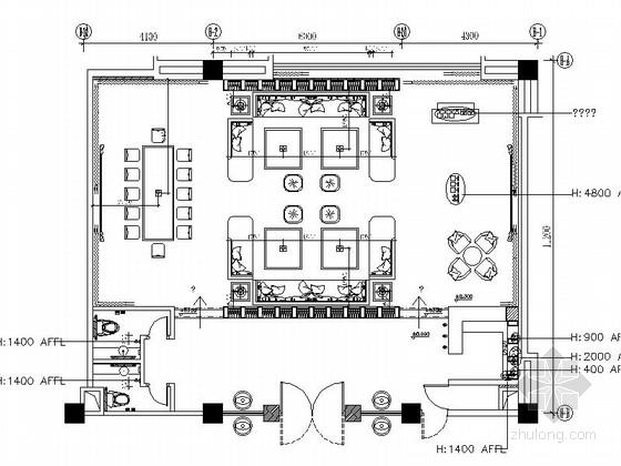 [广东]商务休闲国际酒店现代KTV包间装修施工图(含效果)