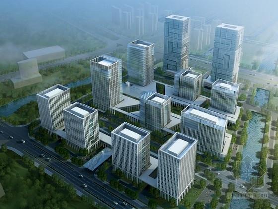 [浙江]玻璃幕墙结构办公区规划及单体设计方案文本