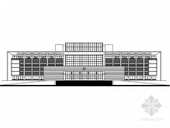 [丹阳]某九层行政办公楼建筑方案图