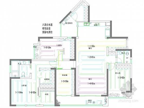 采暖管网施工图资料下载-大平层采暖系统设计施工图
