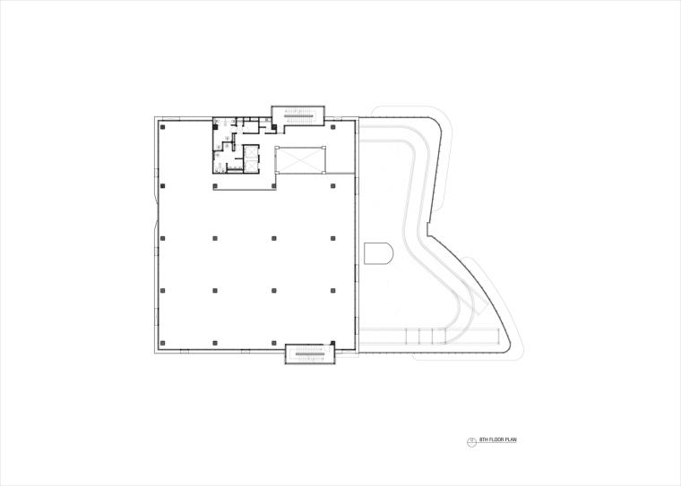 九转回环、流畅现代的车展大厅及办公楼设计_15