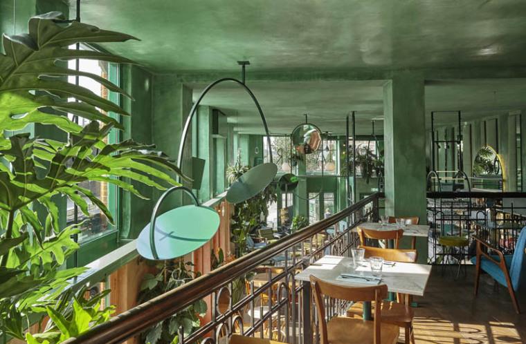 城市中的热带雨林阿姆斯特街角餐厅_7
