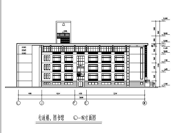 [施工图][广东]中学行政楼教学楼及公寓设计文本 全套施工图(华东院)图片