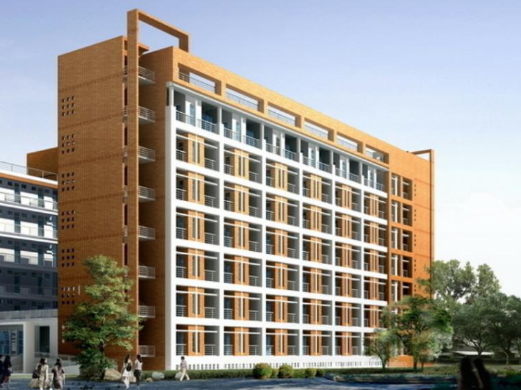 10400平米八层框架宿舍楼毕业设计(Word.75页)