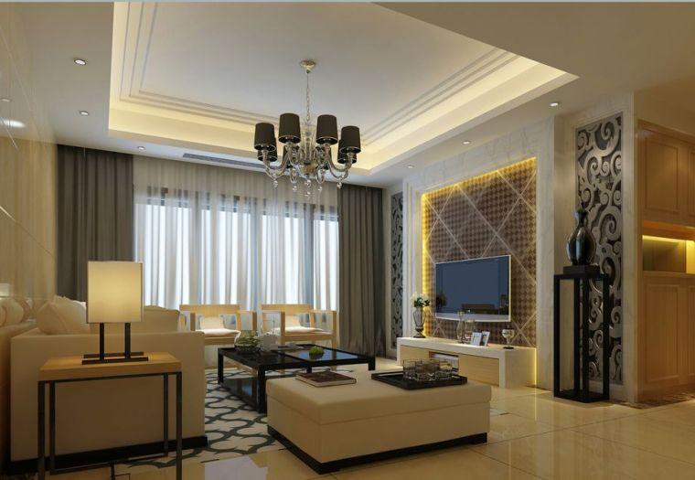 民安城市之光-现代简约风格设计-郑州业之峰装饰-民安城市之光-137平米三居室第1张图片