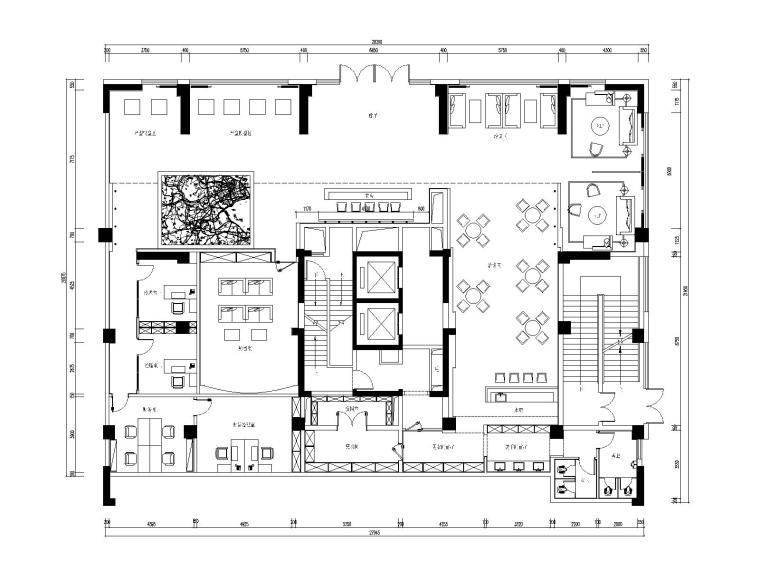 后现代风格售楼处全套施工图(附效果图)