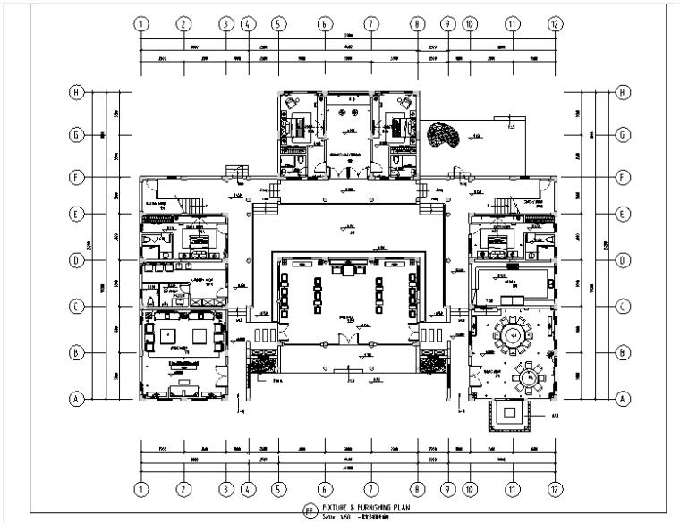 中式风格四居室别墅设计施工图(附效果图)