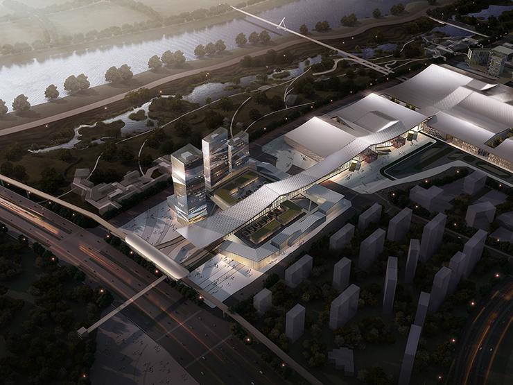 全国7大会展中心设计合集(实景图+效果图)-19-配套企业总部中心效果图