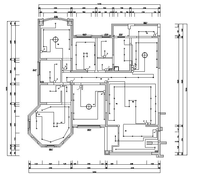 【江苏】现代简约风格样板房设计施工图(附效果图)_3