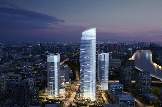 宁波绿地中心型钢混凝土框架+钢筋混凝土核心筒混合结构设计论文