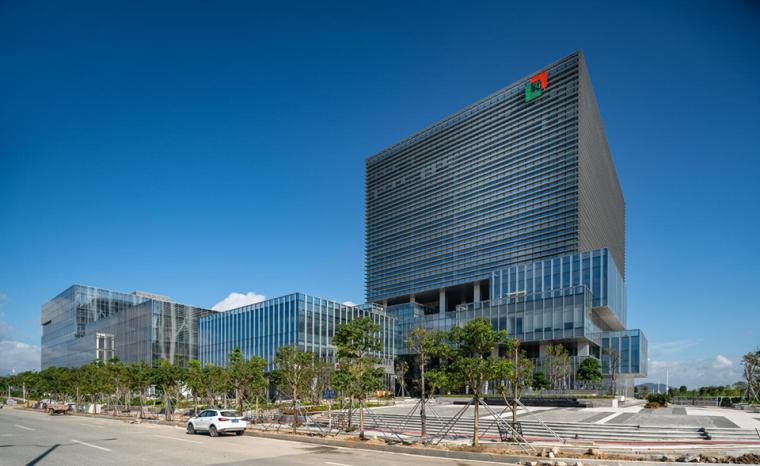 珠海天圆地方概念的医药科技产业园总部大楼-1