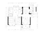 [深圳]欧式三室两厅两卫住宅设计施工图(含效果图+实景图+3d模型)