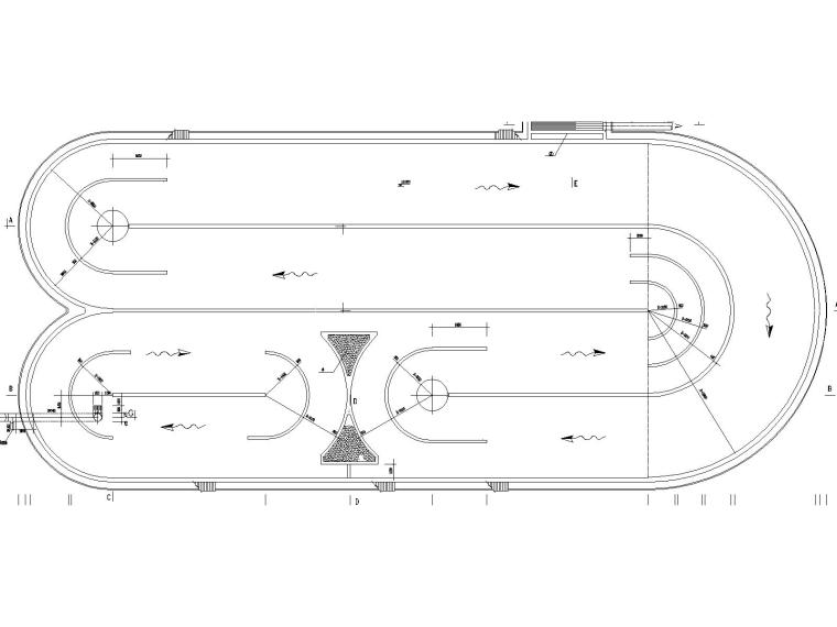 污水厂图纸集合(含工艺设计、泵房平面、配水井等)