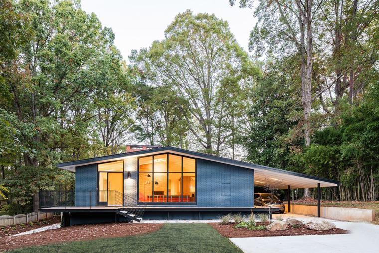 美国中世纪现代住宅的改造
