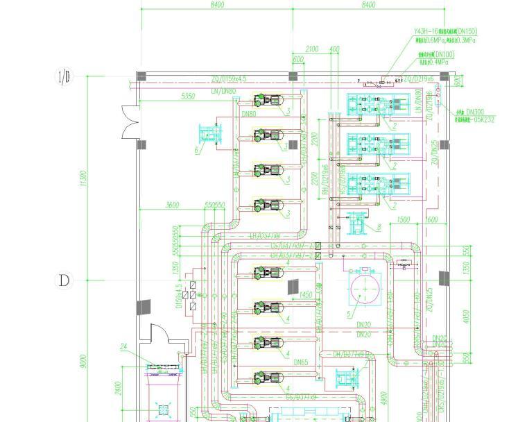 [安徽]古生物化学博物馆暖通设计全套图纸(集中空调设计、通风设计、防排烟设计)