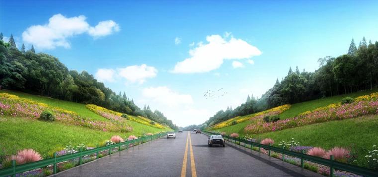 (原创)道路绿化景观设计案例效果图