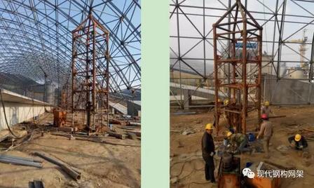 [行业资讯]大跨度煤棚焊接球网架液压顶升施工技术_16