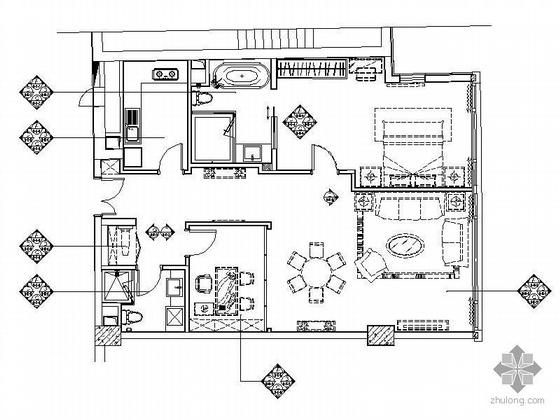 [北京]知名公寓B型标准层样板房装修图