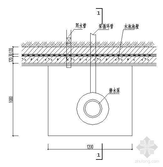 水池底泵坑详图