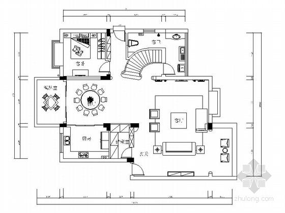 [浙江]欧式奢华大复式室内设计装修图