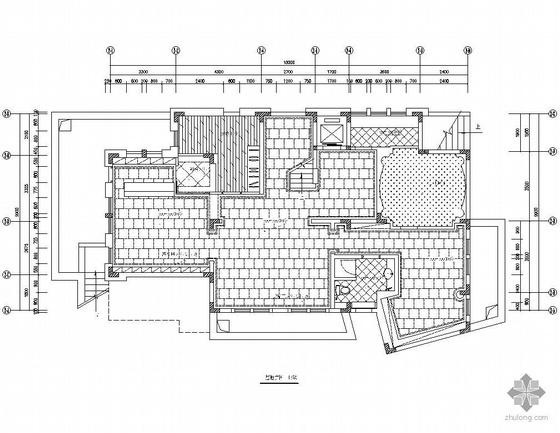 [郑州]四层别墅地面铺装设计图