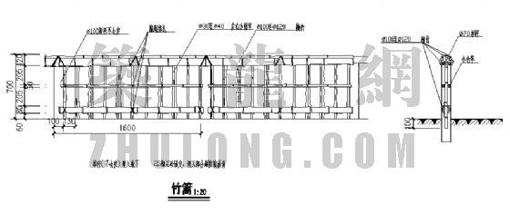竹篱详图-4