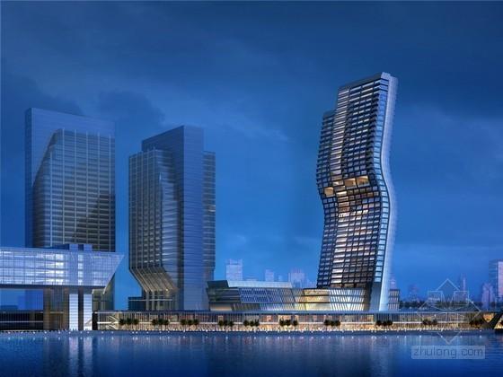 海边酒店建筑模型