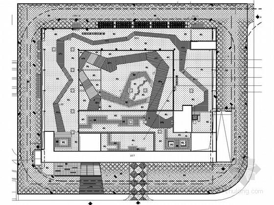 [浙江]城市中心区域规划展示馆景观施工图