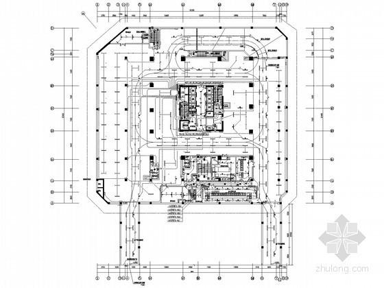 [深圳]一类高层商业办公楼全套电气出图版施工图125张(塔楼、裙房、地下室人防)