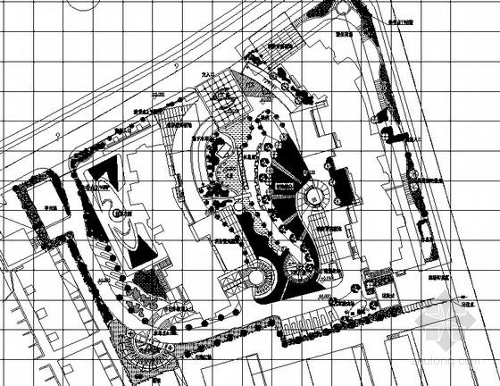 [上海]居住区集中公园园林景观工程施工图