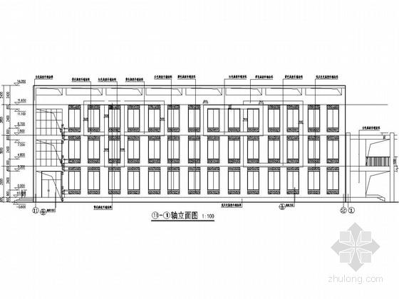 [内蒙古]三层框架结构图书综合楼结构施工图(含建筑图)