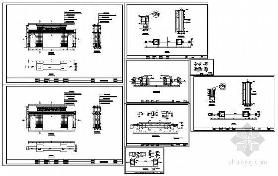 某商场大门结构设计图