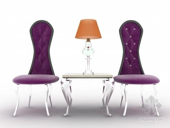 简欧风格组合椅子3d模型下载