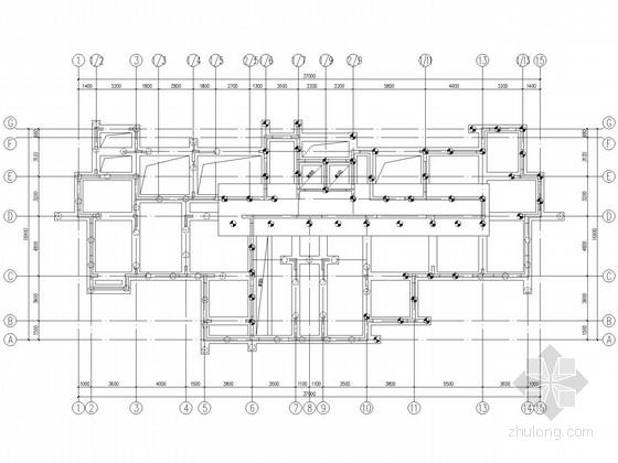 16层带架空层剪力墙住宅结构施工图