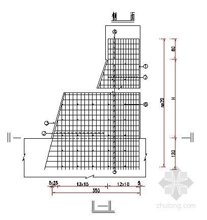 大桥0#桥台肋板钢筋构造图