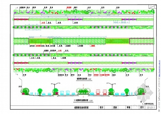 道路绿化全套设计图(23张 设计美观)